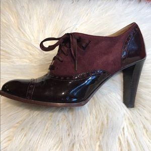 Coach Patent & Suede Oxford Bootie - 8.5